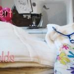 DIY Cloth Diaper: Convert Flats into Prefolds