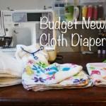 Newborn Cloth Diaper stash: On a Budget